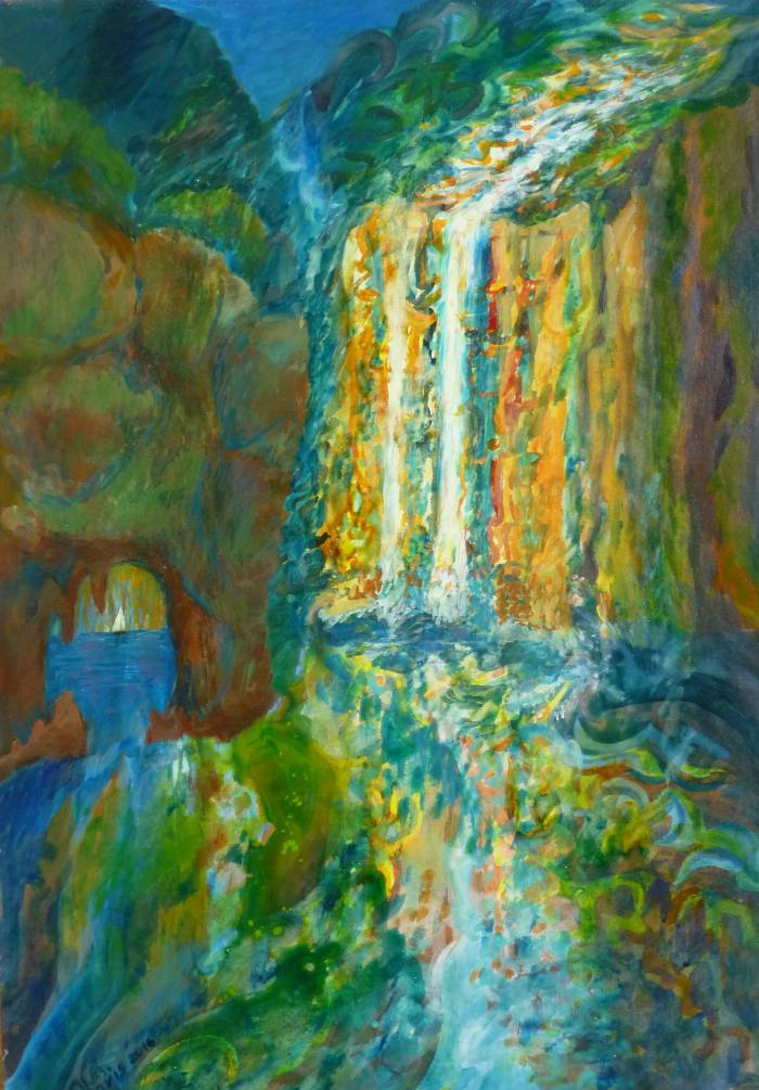 Cascada de Colores, 70x50