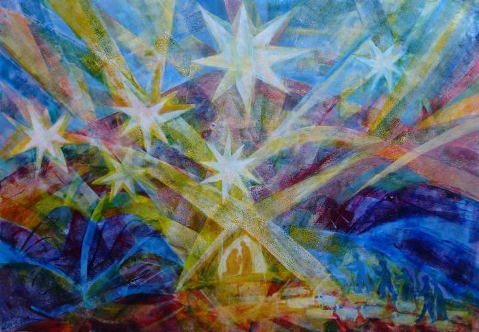 Sternenweihnacht, 70x100