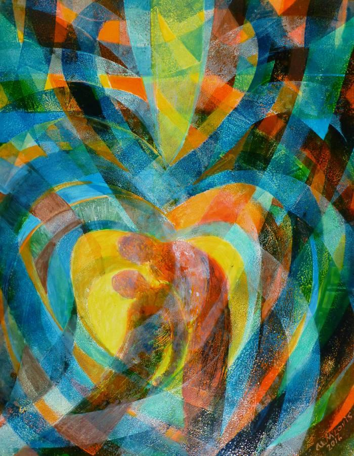 Der barmherzige Samariter, 65x50