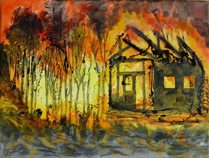 Feuer-Waldbrand