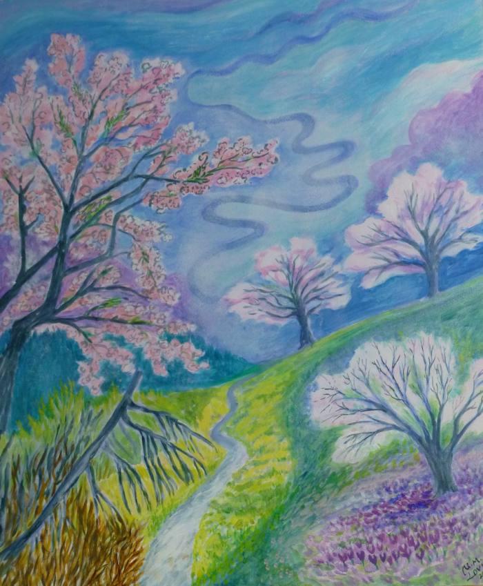 Frühling läßt sein blaues Band... (Hölderlin), 60x50