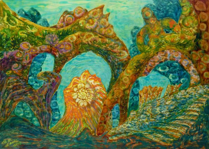 Korallenriff, 50x70