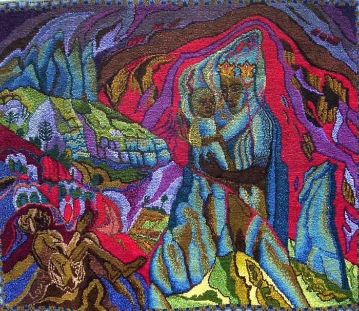 Muttergottes von Montserrat, 160x190