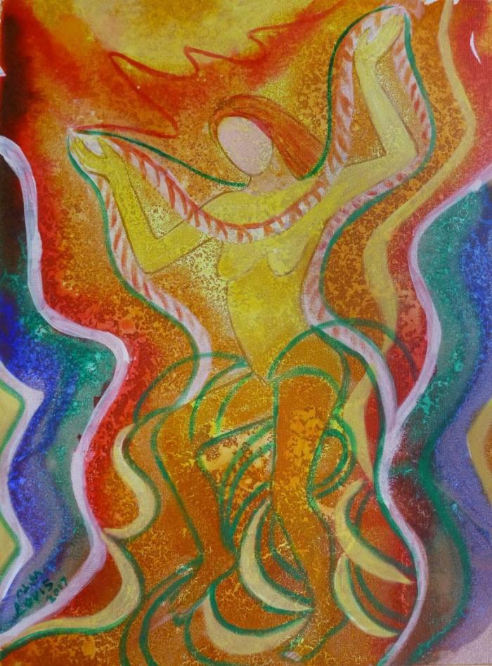 Erotischer Tanz, 40x30