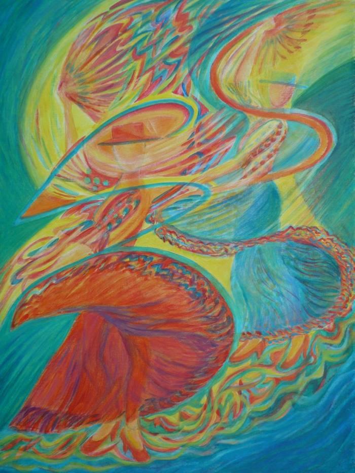Flamenco, 80x60