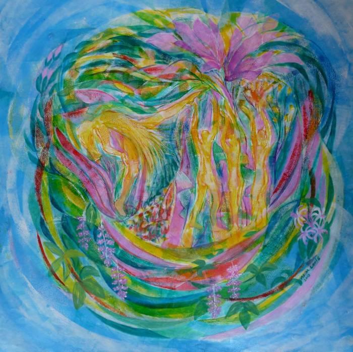 Tanz der 4 Jahreszeiten Frühling, 70x70