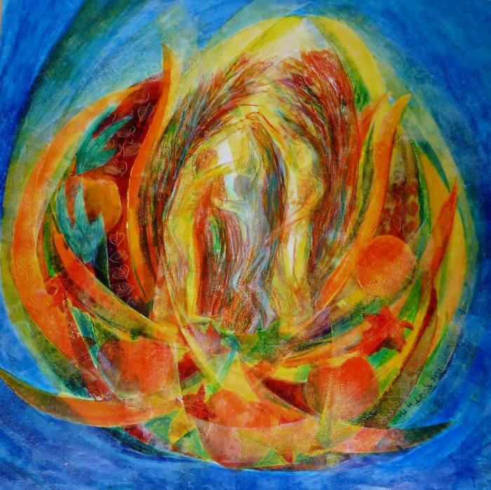 Tanz der 4 Jahreszeiten Herbst, 70x70