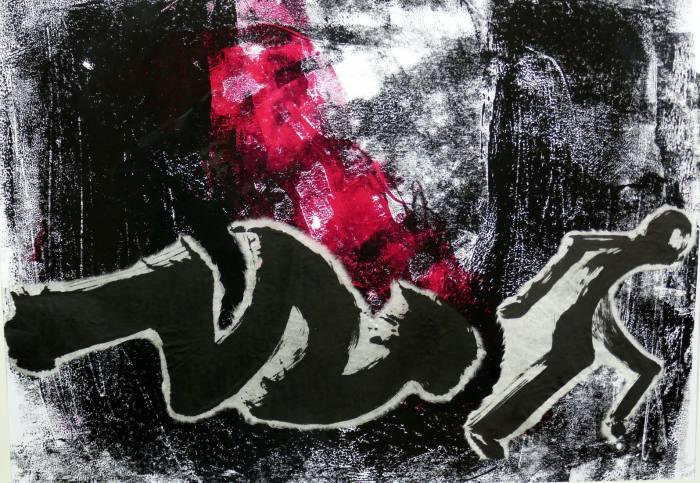 Flucht, 42x60