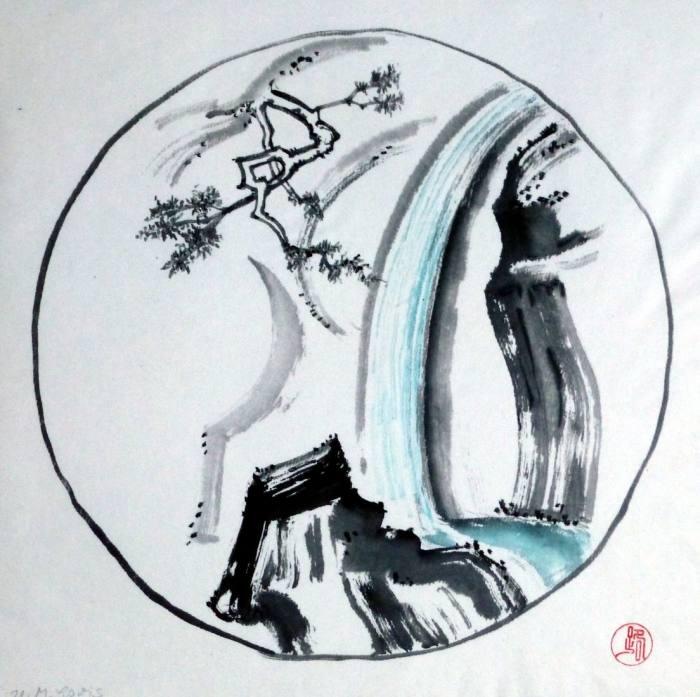 Wasserfall, 34x34